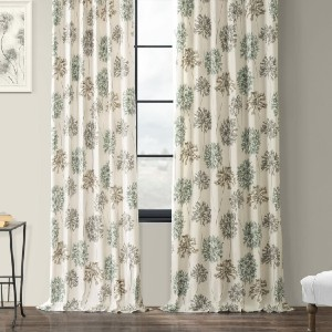 Joss&Main Abbott Printed 100% Cotton Floral Room - Best Curtains for Living Room: Gorgeous Floral Design Curtain