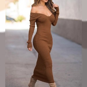 Bella Barnett Jozsi Ribbed Knit Long Sleeves Dress  - Best Knit Dresses: Classy and sexy