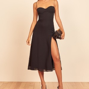 Reformation Juliette Dress - Best Dresses for Small Chest: Seam Details at The Bust
