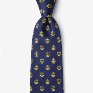 Ties Justice Served Navy Blue Tie - Best Ties for Lawyers: Best overall