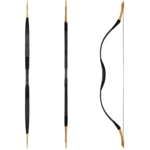 KAINOKAI Traditional Handmade Longbow Horsebow - Best Recurve Bows for Hunting: The Power is Strong, The Shooting Speed is Fast