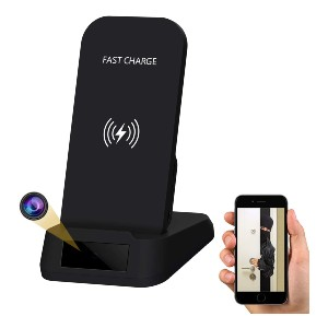 KAPOSEV Wireless Phone Charger Spy Camera - Best Spy Camera with Longest Battery Life: 2-in-1 Wireless Charger and Spy Camera