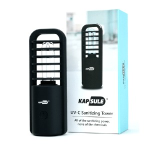 KAPSULE UV-C Sanitizing Tower - Best UV-C Germicidal Lamp: Medical Grade UV-C Bulb