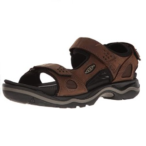 Keen Men's Rialto 3 Point Sandal - Best Sandals for Arch Support: Water-Resistant Leather Upper