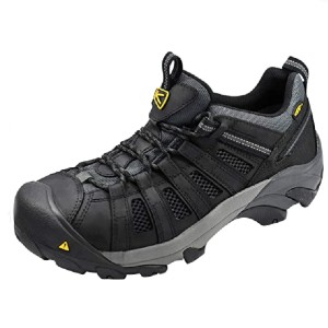 Keen Utility Men's Flint Low Steel Toe Work Shoe - Best Safety Shoes for Plantar Fasciitis: Nice Arch Support Shoes