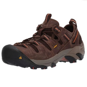 KEEN Utility Men's Atlanta Cool Low Steel Toe Work Shoe - Best Safety Shoes for Walking on Concrete: Shoes with Reflective Webbing