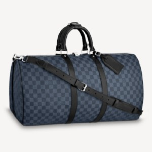 Louis Vuitton KEEPALL BANDOULIÈRE 55 - Best Designer Duffle Bags: Removable Leather ID Holder