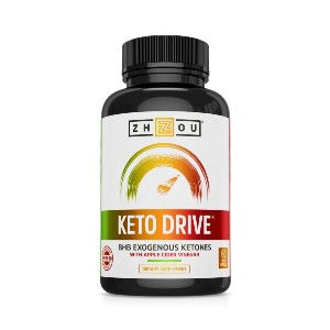 Zhou Nutrition Keto Drive Capsules - Best Apple Cider Vinegar Pills for Weight Loss: Help Bring You Peak Physical and Mental Performance