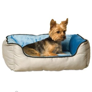 K&H Self-Warming Two Tone Lounge Sleeper Bolster Cat & Dog Bed - Best Dog Beds for Puppies: Bed with Two Premium Material