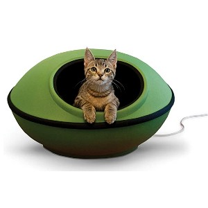 K&H PET PRODUCTS Mod Dream Pod Pet Bed - Best Cat Beds for Older Cats: Low wattage for gentle warmth