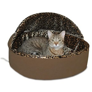 K&H PET PRODUCTS Thermo-Kitty Deluxe Hooded Cat Bed  - Best Cat Beds for Older Cats: Exceptional coziness