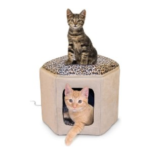 K&H PET PRODUCTS Thermo-Kitty Sleephouse - Best Cat Beds for Older Cats: Removable heater