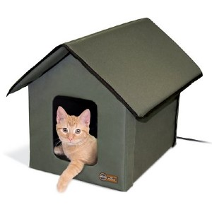 K&H PET PRODUCTS Heated Kitty House - Best Cat Beds for Kittens: Indoor and outdoor bed