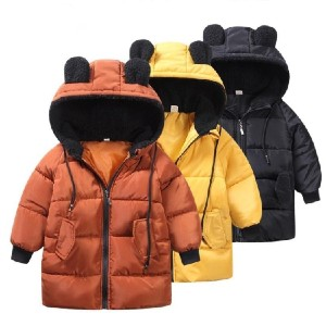 Hungry Seal KID'S WINTER JACKET - Best Coats for Toddlers: 100% Cotton Filling for Enhanced Warmth