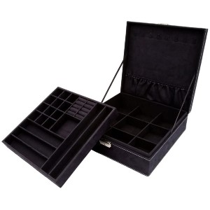 KLOUD City Two-Layer Jewelry Box - Best Jewelry Boxes for Earrings: Elegant Jewelry Box