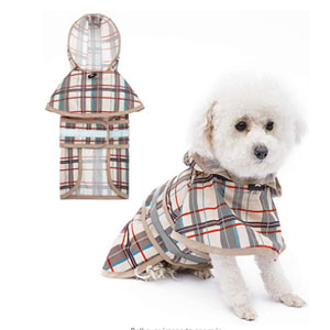 KOOLTAIL Dog Raincoat Hooded with Reflective Strip - Best Raincoats for Dogs: High Breathable Raincoats