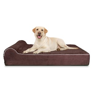 KOPEKS Orthopedic Memory Foam Dog Bed With Pillow - Best Dog Beds for Large Dogs: Washable Bed Cover