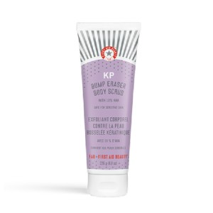 First Aid Beauty KP BUMP ERASER BODY SCRUB 10% AHA - Best Body Scrub for Ingrown Hairs: Safe for Sensitive Skin, and Fragrance Free