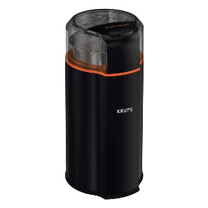 Krups Silent Vortex Electric Grinder for Spice, Dry Herbs and Coffee - Best Quiet Coffee Grinder: Grinder with Removable Bowl with a Lid