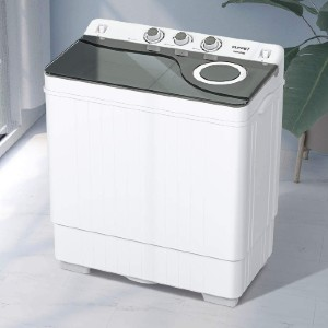KUPPET Compact Twin Tub Portable Mini Washing Machine  - Best Washers for Cloth Diapers: Faster and cleaner