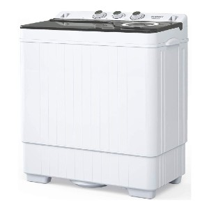 KUPPET Compact Twin Tub Portable Mini Washing Machine - Best Mini Washers: Ideal for couples