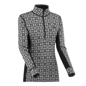 Kari Traa Rose Half Zip Top - Best Base Layers for Extreme Cold: Feminine Cut Base Layer