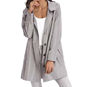 Kate Kasin Womens Hooded Outdoor Rain Jacket - Best Raincoats for Disney: Looks like a daily outer