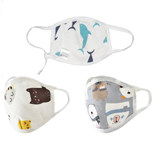 Kawaii Baby Reusable Kid's Mask (Zoo Party) - 3 pack - Best Masks for Kids: Filter Protection Mask