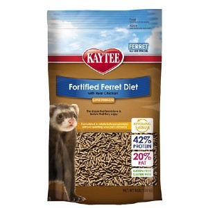 Kaytee Fortified Diet with Real Chicken Ferret Food - Best Ferret Food for Weight Gain: Balanced Nourishment Food