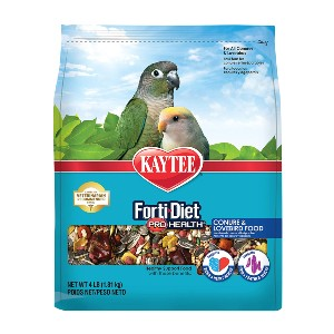 Kaytee Forti-Diet Pro Health Conure and Lovebird Food - Best Food for Love Birds: High-Protein Food