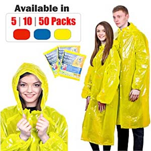 KeepDry! Extra Thick Disposable Rain Ponchos - Best Raincoats for Disney: Stylish and practical