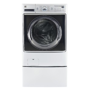 Kenmore Elite 41982 5.2 cu. ft. Smart Front-Load Washer - Best Washers for Large Families: Works with Alexa
