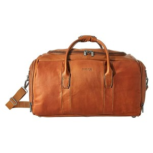 Kenneth Cole Reaction Colombian Leather Duffel - Best Duffel Travel Bags: Cognac Leather Duffle