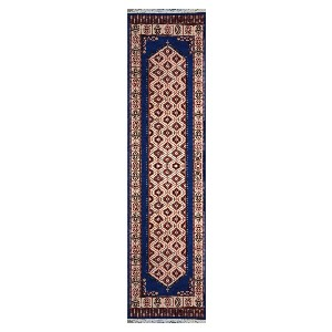 The Rugs Cafe Kerman Design Runner Rug - Blue 2.5 x 10 - Best Rug for Entryway: Instantly elevate your entryway