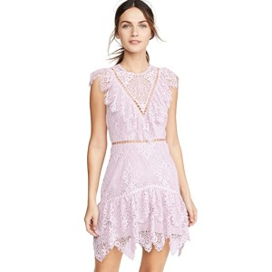 Saylor Kerry Dress - Best Dresses for Small Chest: Presents Summer Romance with Breezy Lavender Lace