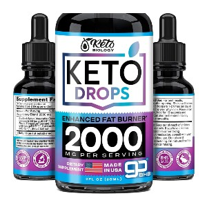 Keto Nature Diet Drops with BHB Exogenous Ketones - Best Appetite Suppressants and Fat Burners: Keto Diet Support
