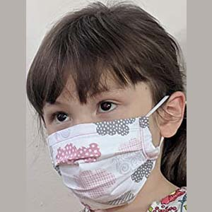 Joyquilts Cute Face Mask with Pocket Insert - Best Masks for COVID: Printed surgical style for kids