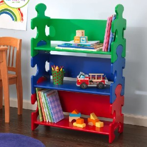 KidKraft Puzzle Bookcase - Best Bookshelves for Toddlers: Stunning Puzzle Bookcase
