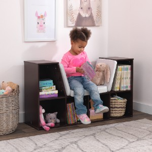 KidKraft Bookcase with Reading Nook - Best Bookshelves for Toddlers: Clever Bookcase Design