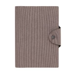 Kikki.K A5 LINEN-LOOK SNAP JOURNAL GRANITE - Best Notebooks for College: Snap Closure to Fit Your Pen