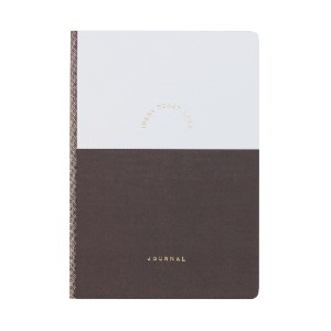 Kikki.K A5 FEATURE JOURNAL DREAM PLAN GRANITE - Best Notebooks for College: Hard Textured Paper Cover