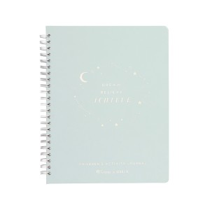 Kikki.K DREAM BELIEVE ACHIEVE JOURNAL - Best Notebooks for College: Hard Cover with Gold Foil Detailing