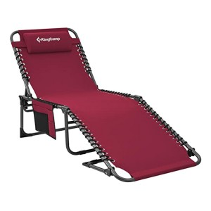 KingCamp 4-Position Patio Chaise Lounge Chair - Best Folding Lounge Chair: Relax like a king