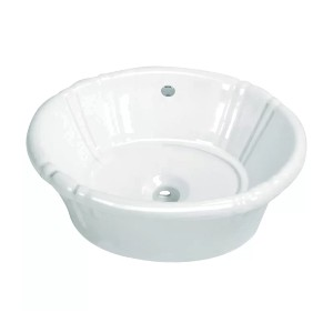 Kingston Brass Fauceture White Vitreous China Oval Drop-In Bathroom Sink with Overflow - Best Drop-In Bathroom Sinks: Vintage Sink