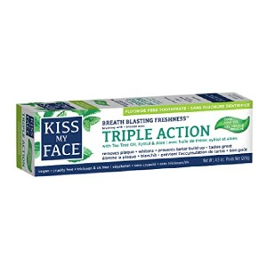 Kiss My Face Triple Action Gel Toothpaste - Best Toothpaste without Fluoride: Three important benefits