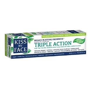 Kiss My Face  Triple Action Gel Toothpaste - Best Toothpaste Recommended by Dentist:  Three important benefits