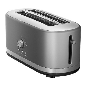KitchenAid 4-Slice Wide-Slot Toaster - Best Toaster Long Slot: Toaster with 7 Settings Mode