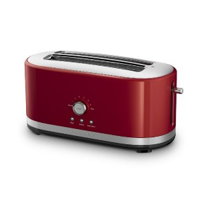 KitchenAid 4 Slice Toaster w/ Manual High-Lift Lever - Best Toaster for Bread: Toaster with 7 Settings Mode