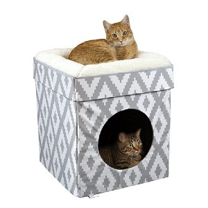 Kitty City Stackable Cat Cube - Best Cat Beds for Large Cats: Space-saving