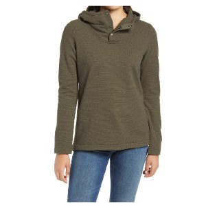The North Face Knit Stitch Fleece Hoodie - Best Hoodies for Women: Slit Hem with Snaps